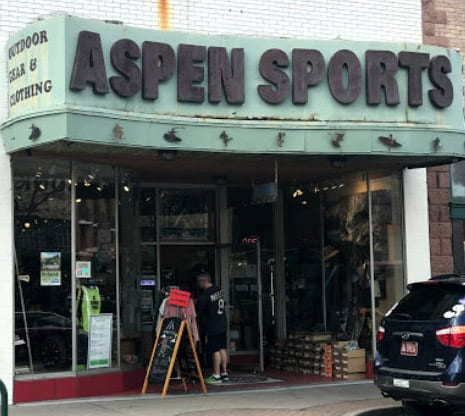 Winter and mountain sport store in Flagstaff, Arizona